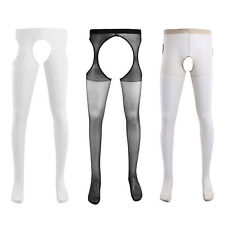 1 Pair Men Sexy Hollow Out Tights Suspender Stretchy Pantyhose Stockings Socks