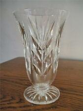 """WATERFORD CUT CRYSTAL BEAUTIFUL  6"""" FLARED AND FOOTED VASE"""