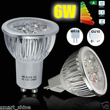 4 10 20x 6W GU10 MR16 LED Spotlight Lamps Bulb Warm Day White Light  High Power!