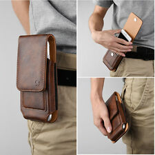 Vertical Luxury Leather Pouch Belt Clip Holster Clip Fits Slim Case For Phones