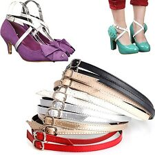 Detachable PU Leather Shoe Straps for Holding Loose High Heeled Shoes Laces Band