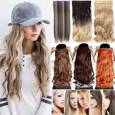 Real thick half Full Head Clip In Hair Extensions Curly Wavy Straight Hair LC