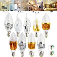 Dimmable E27 E14 LED Candle Light 6W 9W 12W Chandelier Bulb Lamp Warm Cool White