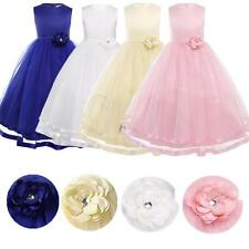 Flower Girls Princess Pageant Wedding Birthday Formal Party Bridesmaid Kid Dress