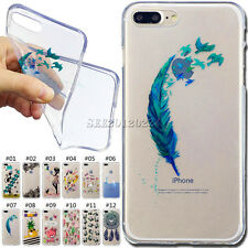 Shockproof Rubber Soft Skin Cute Back Gel Case TPU Cover For Apple iPhone 7 Plus