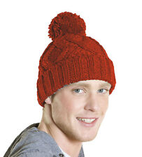 Champion Mens Unisex Chunky Cable Knitted Bobble Beanie Warm Winter Hat Sam