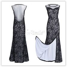Long Floral Lace Evening Formal Party Ball Gown Prom Cocktail Bridesmaid Dresses