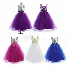 Flower Girls baby Kid Bridesmaid Dress Wedding Birthday Party Prom Gown Dresses