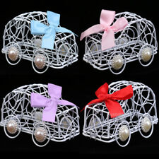 Wedding Car Box Party Kids Birthday Favour Ribbon Bow Bomboniere Metal Candy Box
