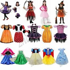 Witch Pirate Princess Minnie Mouse Girl Fancy Dress Kid Halloween Costume Party