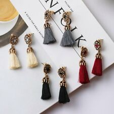 Fashion Boho Ethnic Crystal Dangle Earrings Long Tassels Fringe Women Jewelry