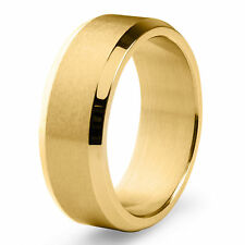Men's Goldplated Stainless Steel Satin and High Polished Ring
