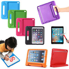 For Apple iPad Glass Screen + Kids ShockProof Handle EVA Case Foam Stand Cover
