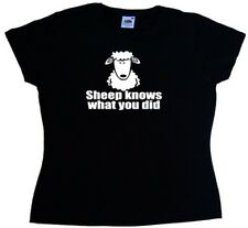 Sheep Knows What You Did Funny Ladies T-Shirt
