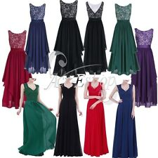 Ladies Women's Wedding Bridesmaid Cocktail Party Prom Gown Long Evening Dress
