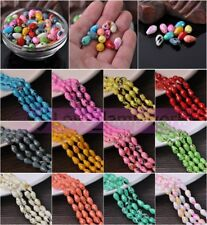8/10mm Coated Teardrop Faceted Loose Spacer Crystal Glass Beads Jewelry Findings