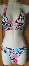 BNWT M & S BIKINI HIPSTER BRIEF REMOVABLE BRA PADS FULLY LINED BRIEF HALTER TOP
