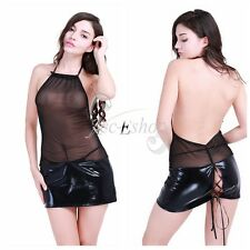 Women's Lingerie Sleepwear Sexy G-string Backless Dress Teddy Babydoll Nightwear