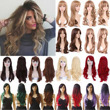 New Fashion Full Wig Long Straight Hair Cosplay Heat Resistant Wigs For Ladies #