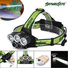 60000LM 5x XM-L T6 Rechargeable 18650 USB Headlamp Head Light Zoomable Torch #M