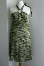 Xtraordinary Junior Teen Halter Dress Small Olive Green Casual Size S SM NWT