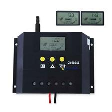 New Timer LCD 60A 30A 12V/24V Solar Panel Battery Charge Controller Regulator