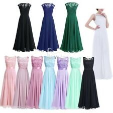 Elegant Women's Bridesmaid Formal Dress Party Evening Ball Gown Long Maxi Dress