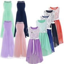 Kids Communion Formal Party Prom Flower girls Wedding Bridesmaid Pageant Dress