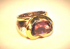 JOSEPH ESPOSITO- Two Tone Amethyst Crystal Center Ring