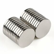 "20/60Pcs N35 Strong Round Magnets 15x2mm/0.59x0.08"" Disc Fridge Neodymium W/Box"