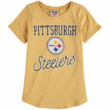 Pittsburgh Steelers Junk Food 17 Youth Girls  T-Shirt - Yellow