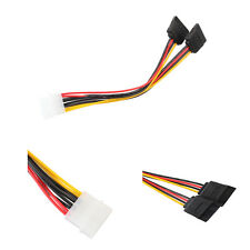 4Pin IDE Molex To 2 ATA SATA Power Supply Y Splitter Hard Extension Cable Lot