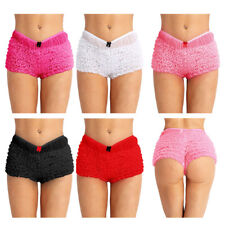 Women Men Sissy Lace French Maid Ruffled Panty Underwear Frilly Knickers Panties