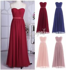 2017 Womens Long Chiffon Formal Evening Prom Party Bridesmaid Wedding Maxi Dress