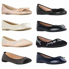 Womens Ladies Classic Flat Ballerina Pumps Plain Ballet Work School Shoes 3-8