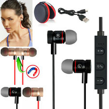 Black -YP56 Magnetic Bluetooth Handsfree Headset Earphone For Cell Phone Samsung