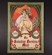 1909 SATURDAY EVENING MAIL CHRISTMAS NUMBER Color Litho Magazine Waterman Pen Ad