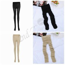 Women Compression Tights Stockings Sheer Thin Pantyhose Elastic Long Socks Black