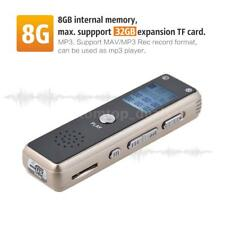 8GB Rechargeable Digital Audio Voice Recorder Dictaphone MP3 Music Player USB