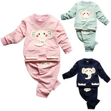 Autumn Winter Kids Baby Girl Boy Pullover Tops Pants Outfits 2PCS Clothes Set US
