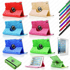 For iPad Mini 1 / 2 / 3 360 Rotating Cute Cartoon Leather Case Smart Cover + AAA