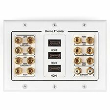 TNP Home Theater Speaker Wall Plate Outlet - Speaker Sound Audio Distribution