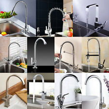 Chrome Modern Pull Out Kitchen Bathroom Taps Mixer Swivel Brushed Faucet tap