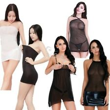 Sexy Women Lingerie Babydoll See-through Sleepwear Nightwear Mesh Dress G-string