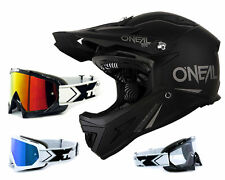 Oneal Warp Downhill Helmet Black Matte DH Mountain Bike with Two-X Race Goggles
