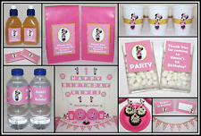 ** PINK & GOLD MINNIE MOUSE PERSONALISED Birthday Party Decorations Supplies **