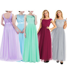 Elegant Lace/Long Formal Wedding Evening Ball Gown Party Prom Bridesmaid Dress