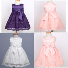 Baby Girls Kids Infant Outfit Tutu Skirt Bow Dress Flower Tutu Party Dresses NEW