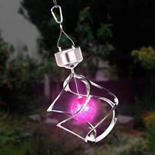1x Solar Powered Changing Wind Spinner LED Light Garden Yard Decoration Lamp MT