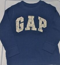 NWT BABY GAP BOYS LOGO T-SHIRT TOP thermal waffle blue  u pick size